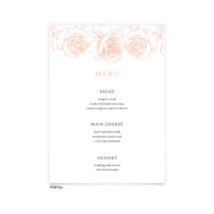 Free Editable Wedding Menus • Phoebe Collection • The Budget Savvy Bride