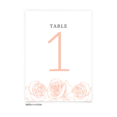 Free Editable Wedding Table Numbers • Phoebe Collection • The Budget Savvy Bride
