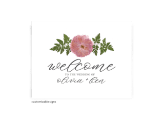 Free Editable Wedding Signs • Grace Collection • The Budget Savvy Bride