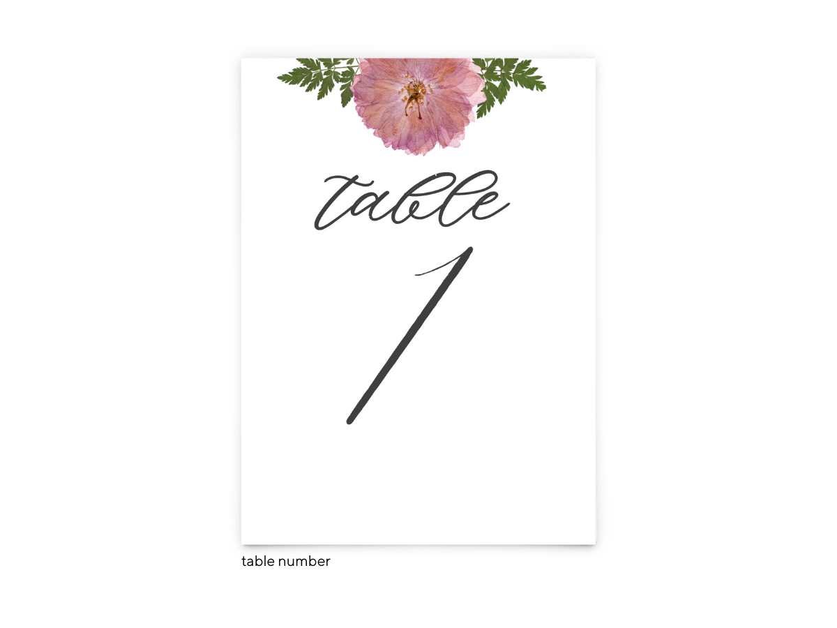 Free Editable Wedding Table Numbers • Grace Collection • The Budget Savvy Bride
