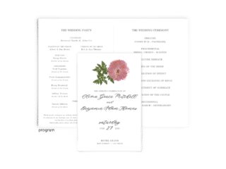 Free Editable Wedding Program • Grace Collection • The Budget Savvy Bride