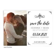 Save the Date Card • Jennifer Collection • The Budget Savvy Bride