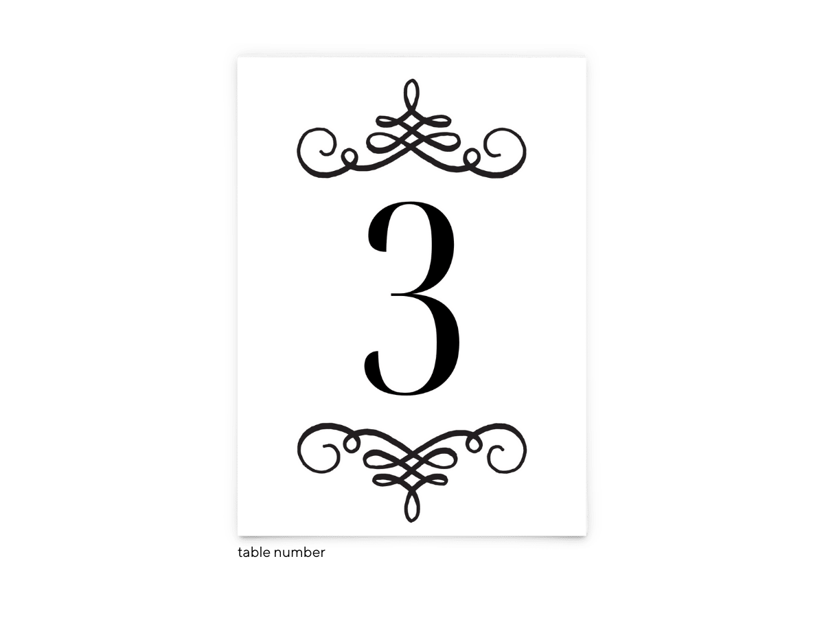 Free Editable Wedding Table Numbers • Jennifer Collection • The Budget Savvy Bride