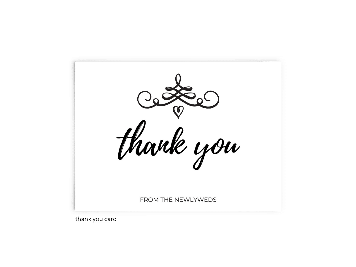Free Editable Wedding Thank You Cards • Jennifer Collection • The Budget Savvy Bride