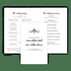Free Editable Wedding Program • Jennifer Collection • The Budget Savvy Bride