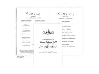Free Editable Wedding Program • Jennifer Collection • The Budget Savvy Bride