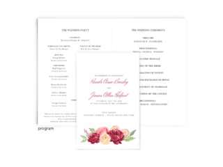 Free Editable Wedding Program • Nickell Collection • The Budget Savvy Bride