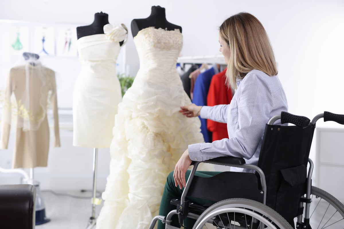 Meara Bartlett, author of Wedding Planning for Spoonies, shares her advice with disabled brides to help them navigate shopping for their wedding dress.