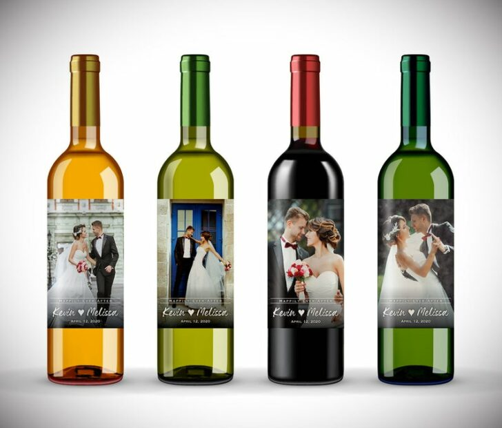 Micro wedding must haves to make a big statement with your small celebration.  Wedding Wine Labels