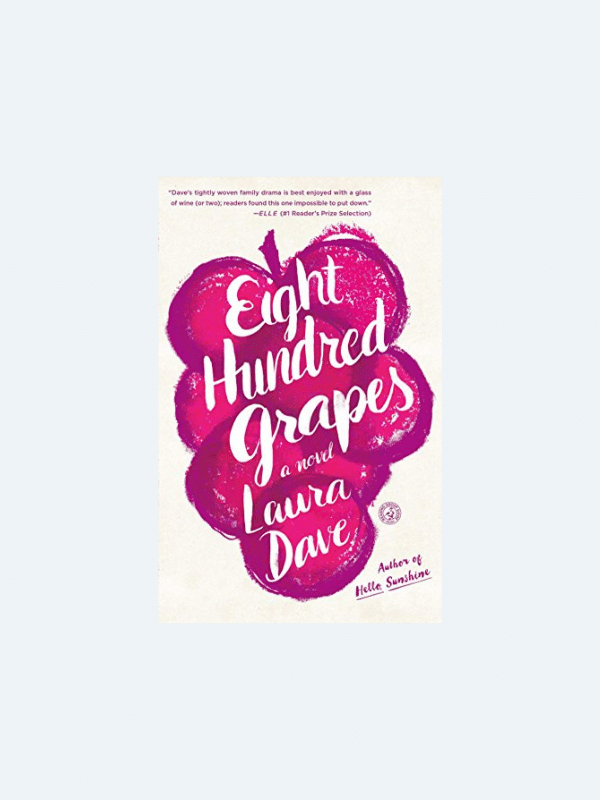 20 Awesome Books for Your Beach Honeymoon  EIGHT HUNDRED GRAPES by Laura Dave  Beach Reads for Your Honeymoon Getaway | The Budget Savvy Bride