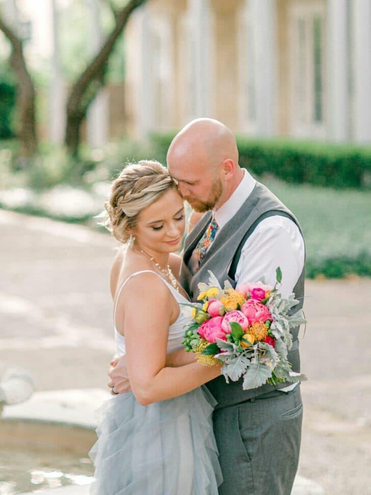 Colorful DIY Micro Wedding - bride and groom