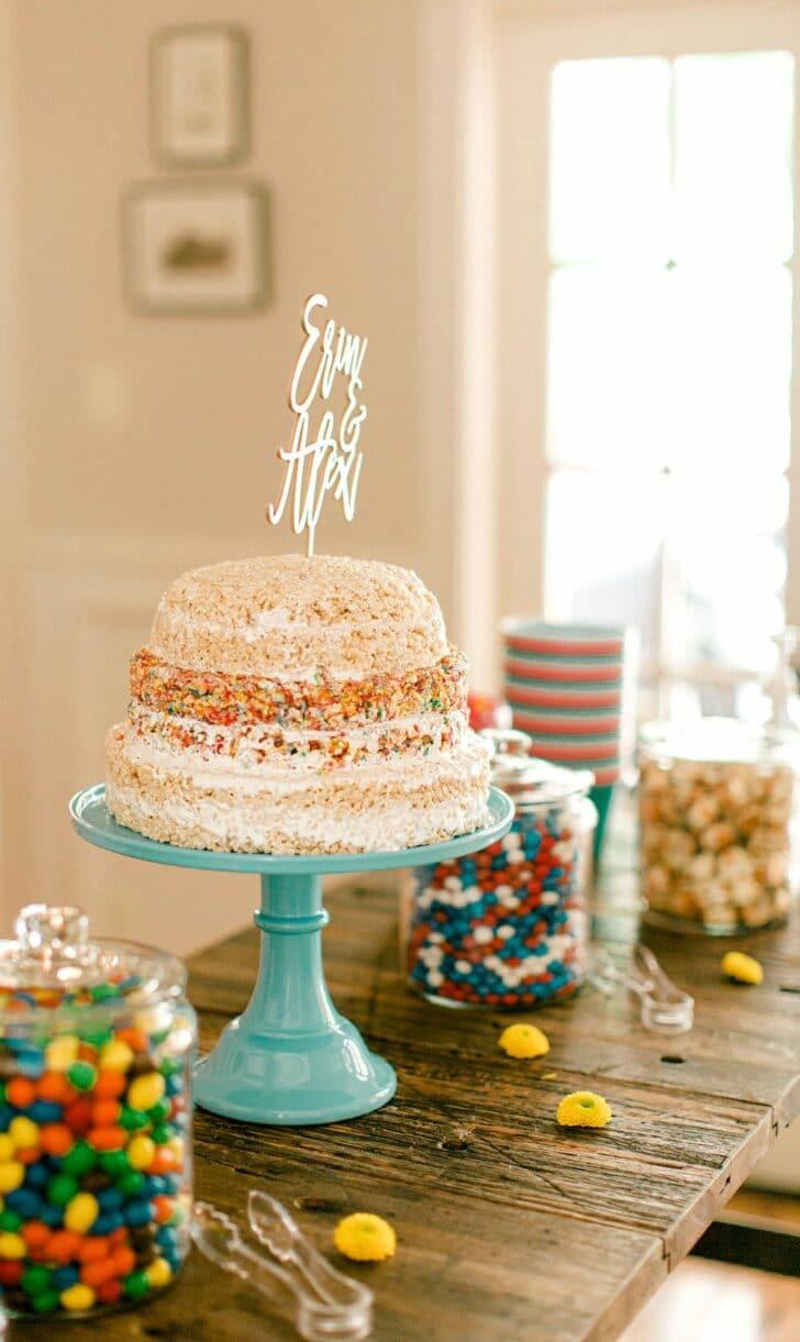 DIY Rice Krispie Cake