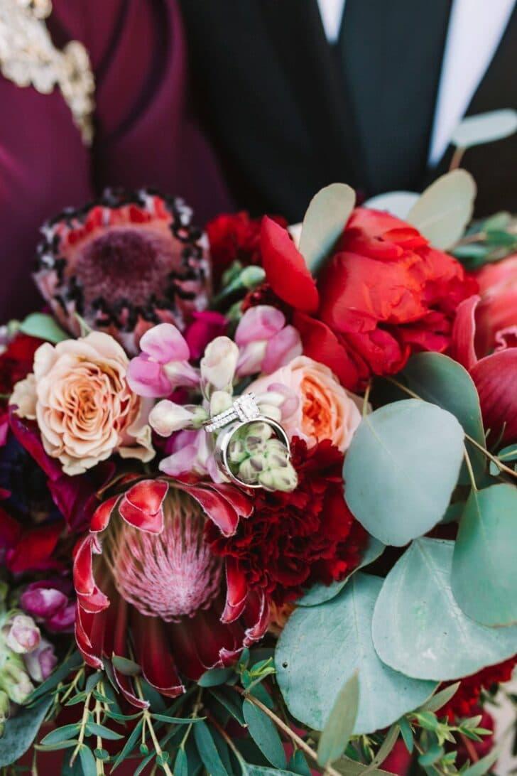 moody - boho - wedding bouquet