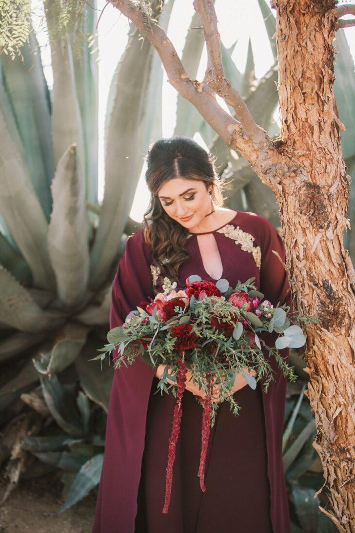 bride - bouquet- alternative wedding style