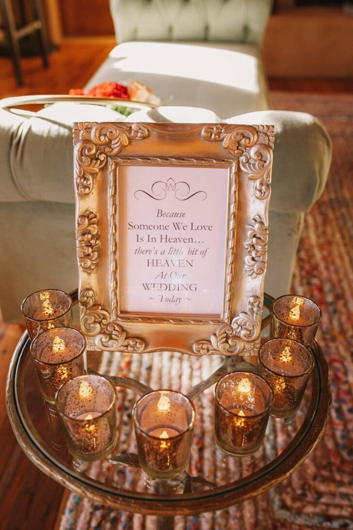 DIY wedding decor with gold accents