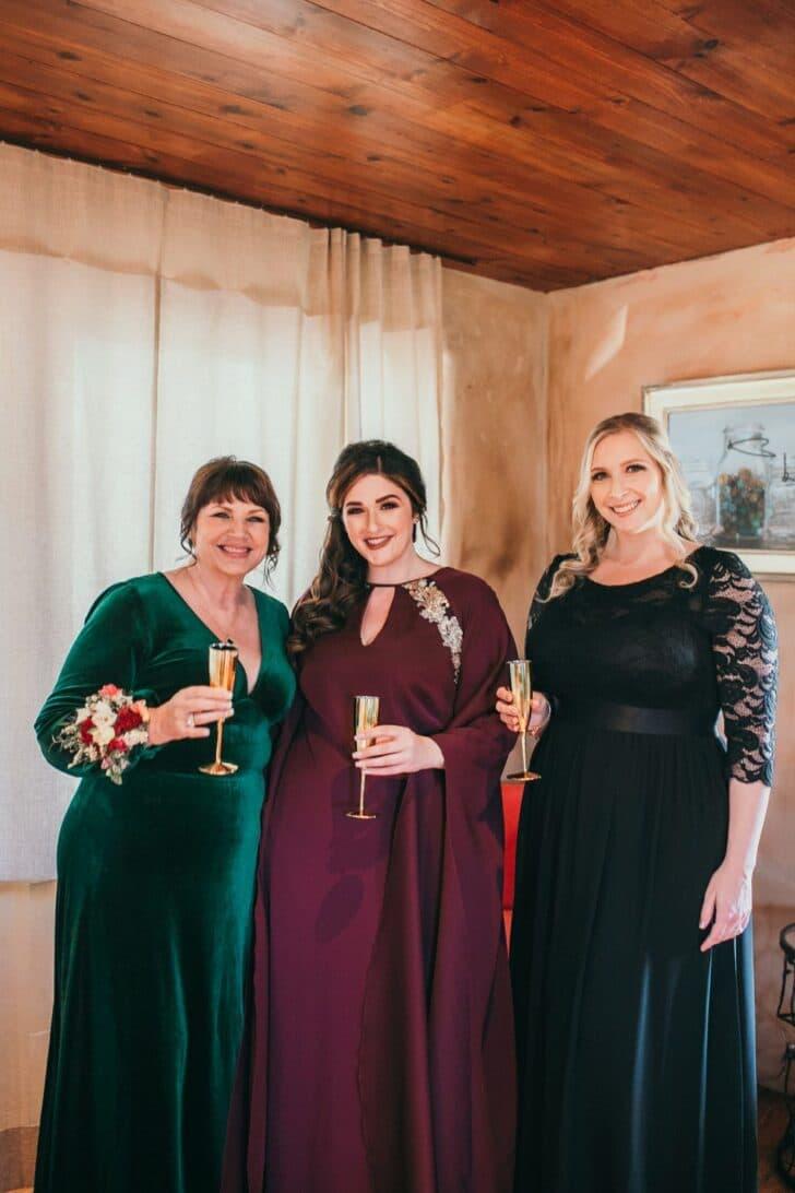 emerald green bridesmaids dresses