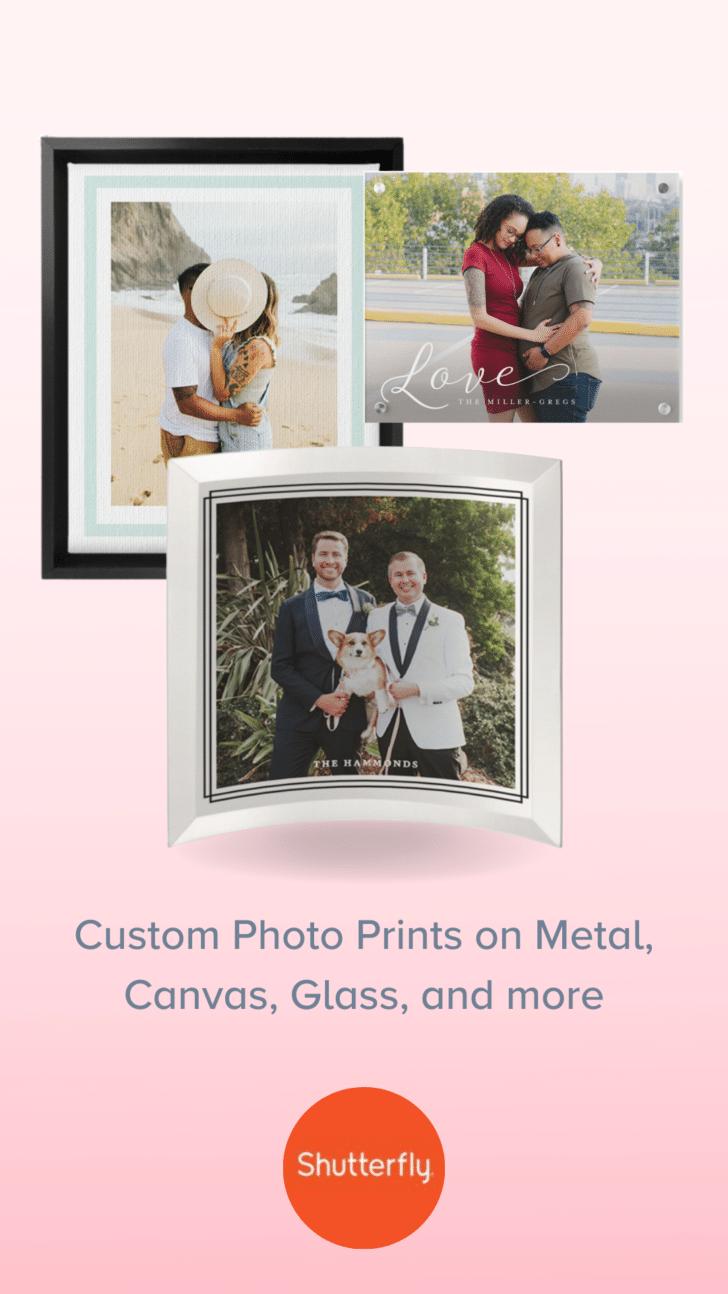 Copias personalizadas de las fotos de boda de Shutterfly