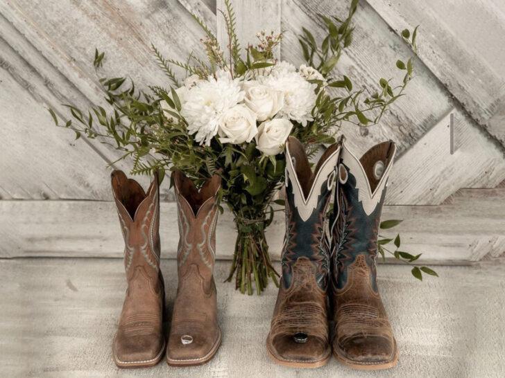 botas de vaquero bodas
