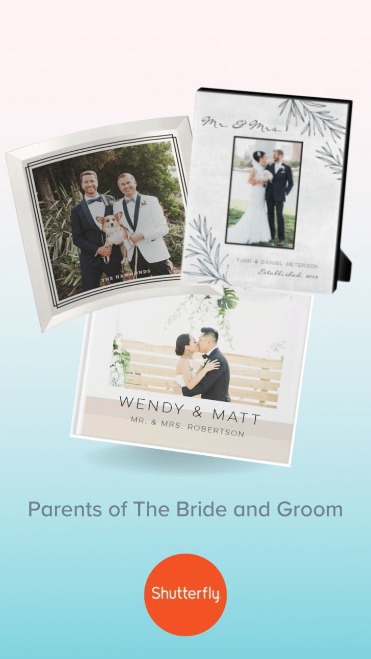 Custom gift ideas for the parents of the bride or groom