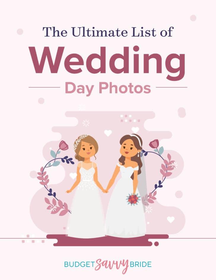 ultimate list of wedding photos-bride-bride