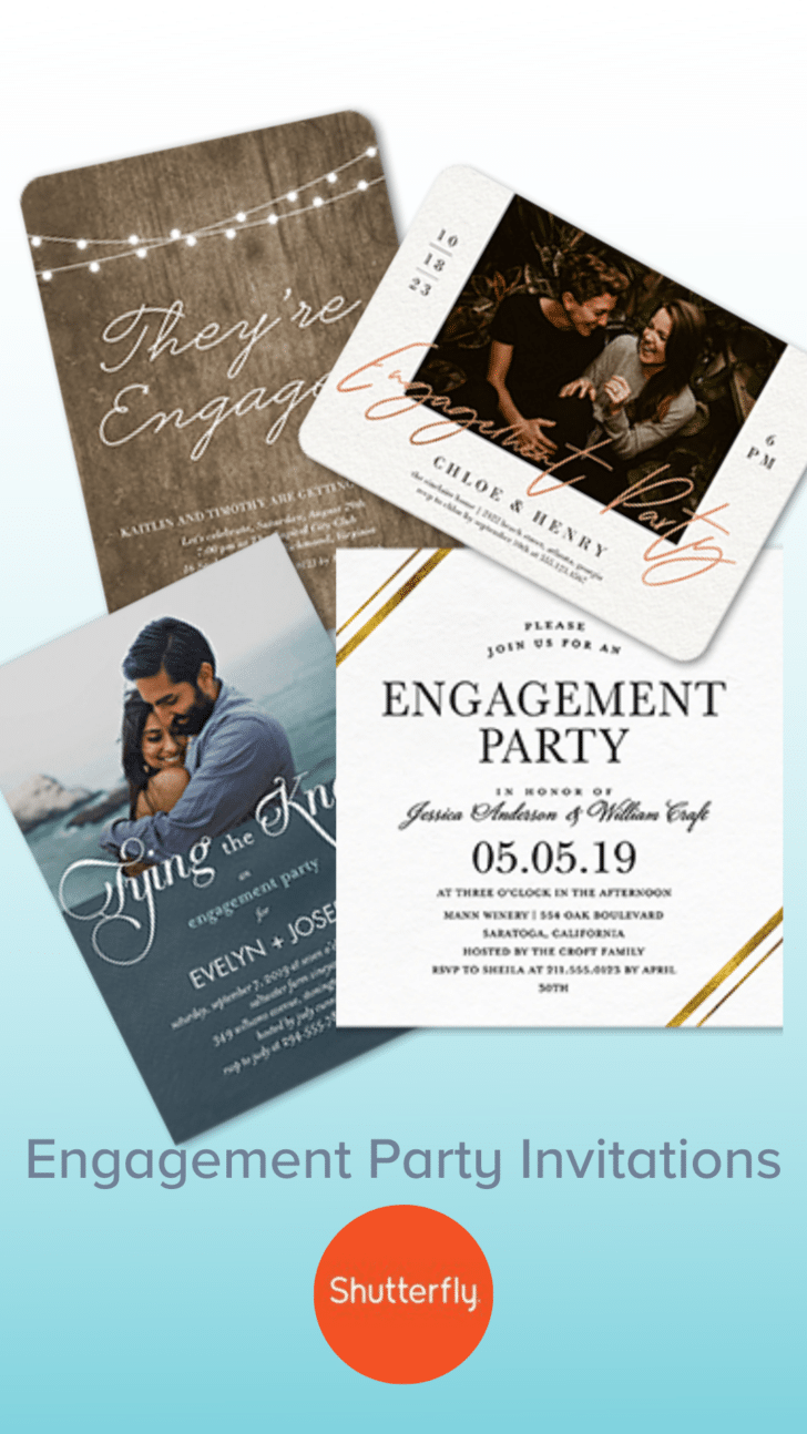 Shutterfly Engagement Party Invitations