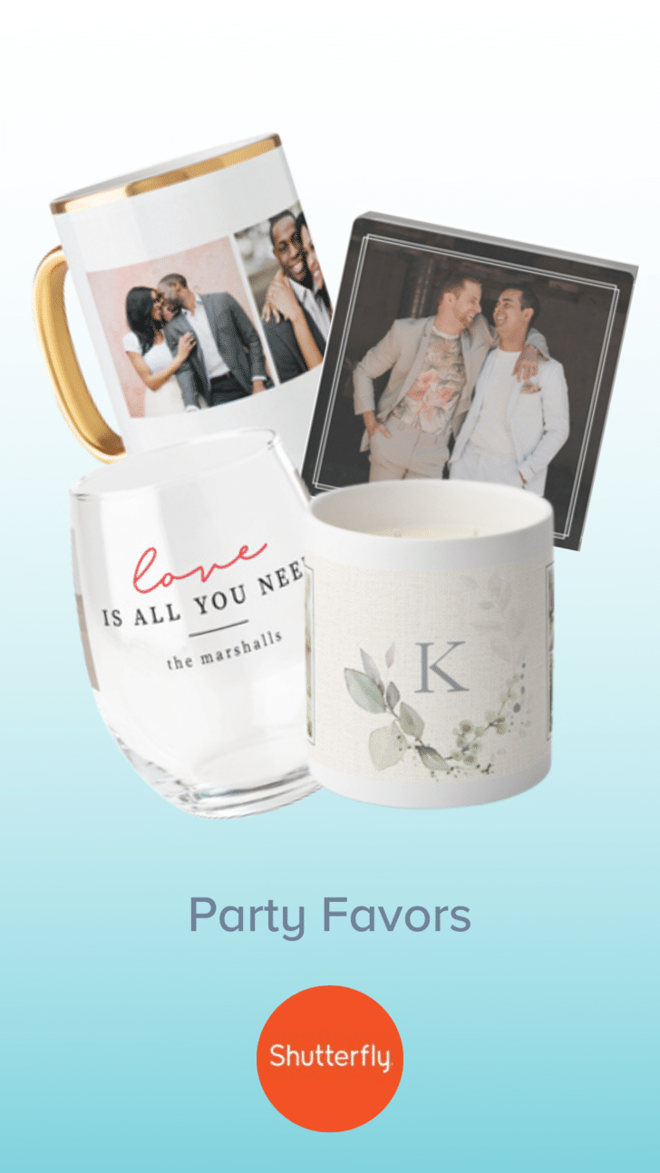 Shutterfly Engagement Party Favors
