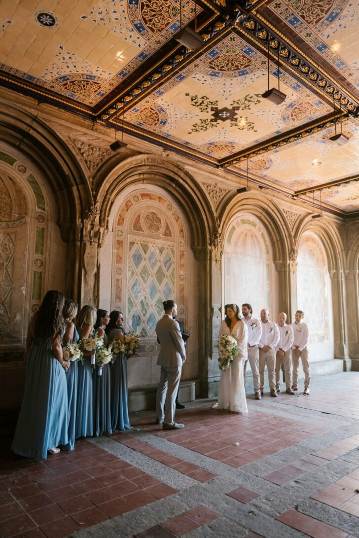 bridal party -Chic Central Park micro wedding