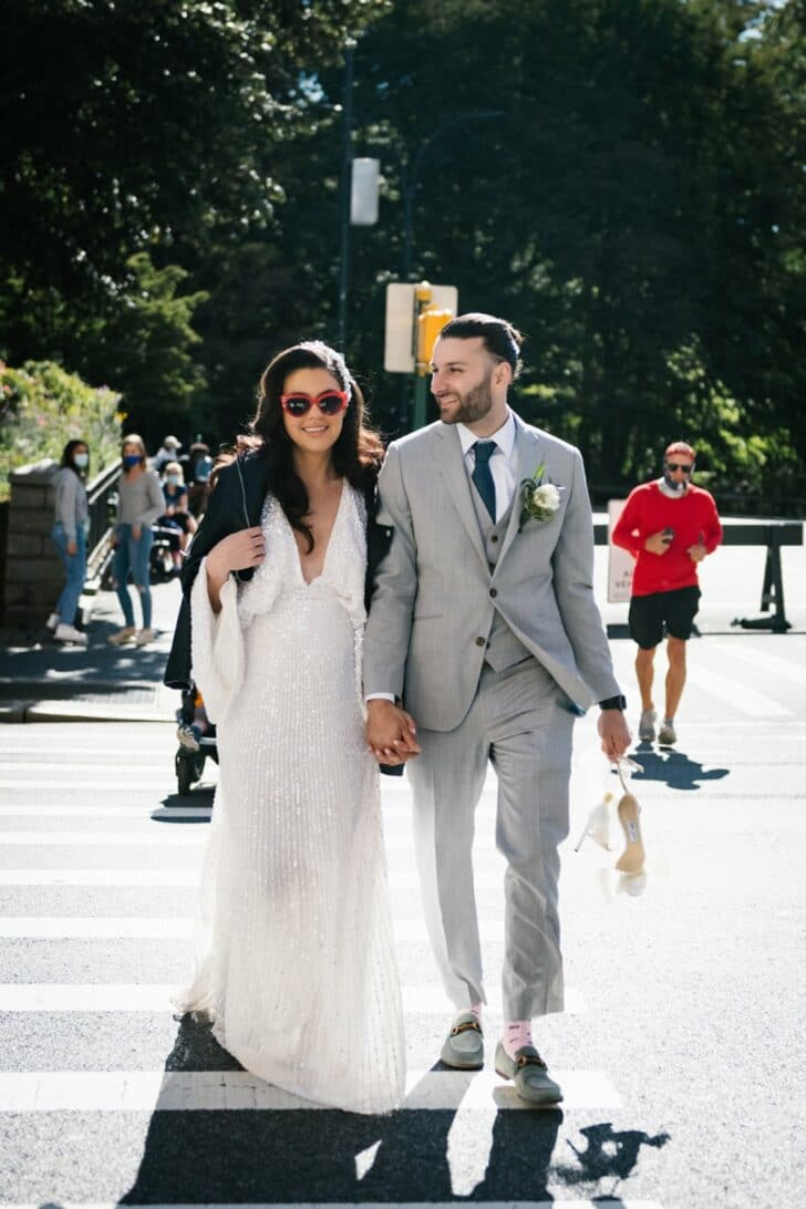 Chic Central Park Bride and Groom