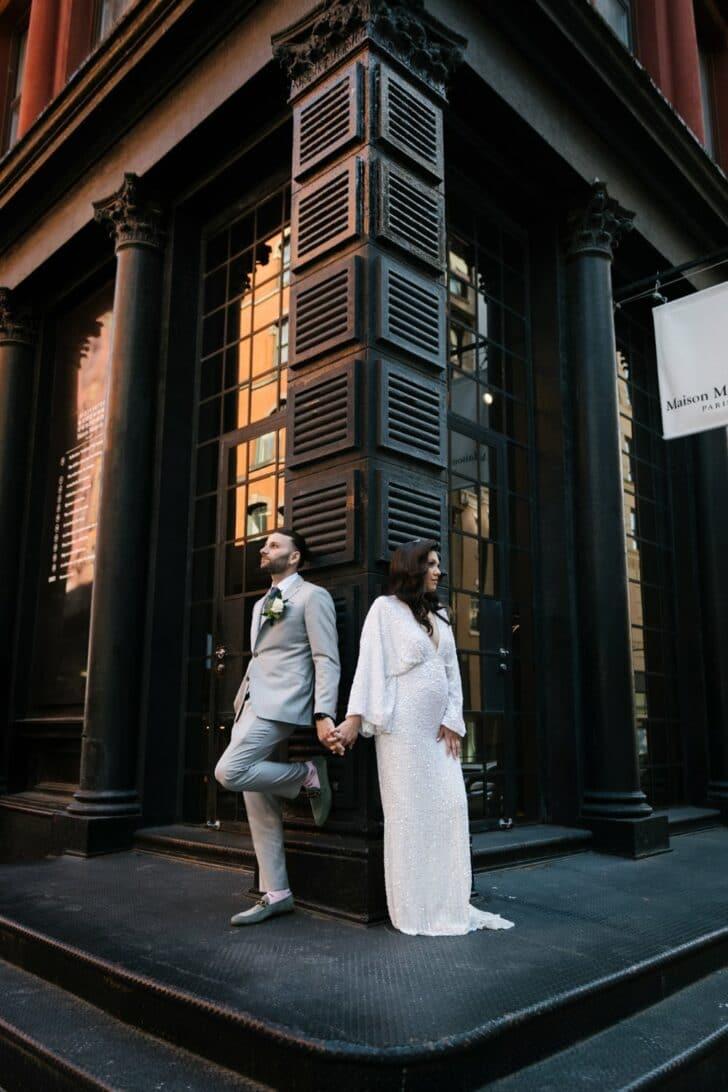 Chic Central Park Bride and Groom - NYC wedding photos