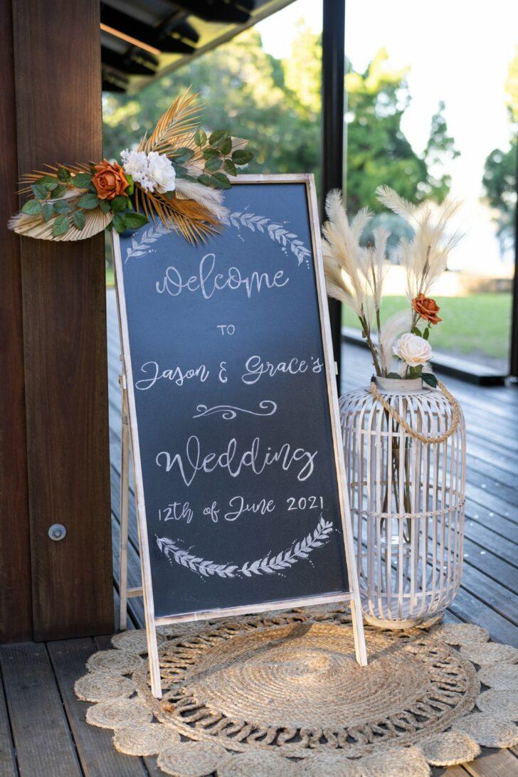 rustic DIY micro wedding-wedding sign
