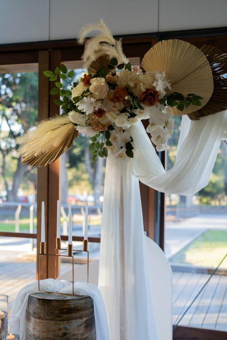 rustic DIY micro wedding - decor