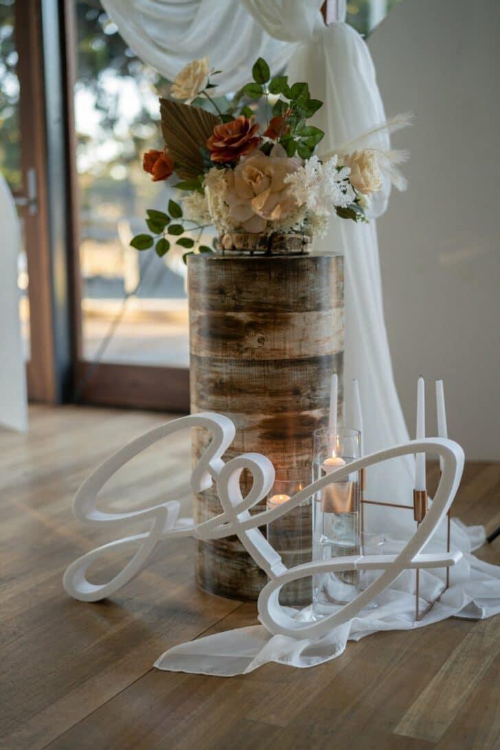 rustic DIY micro wedding