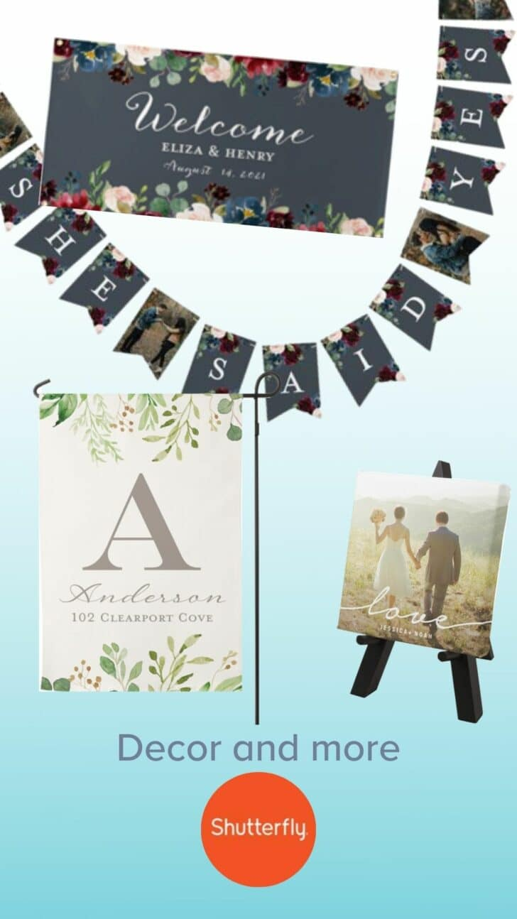Shutterfly Personalized Engagement Party Decor