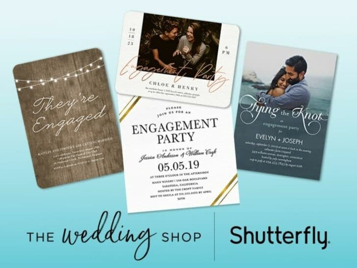 Shutterfly Personalized Engagement Party Details