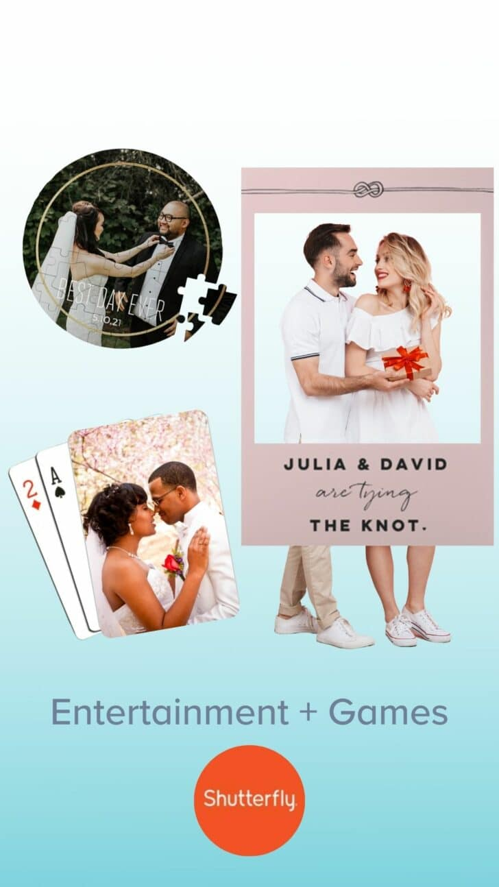 Shutterfly Personalized Engagement Party Games