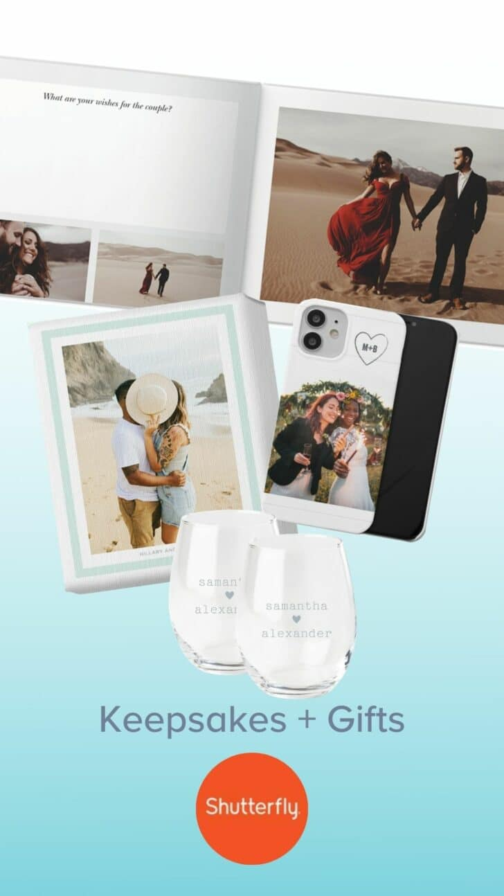 Shutterfly Personalized Engagement Party Gifts