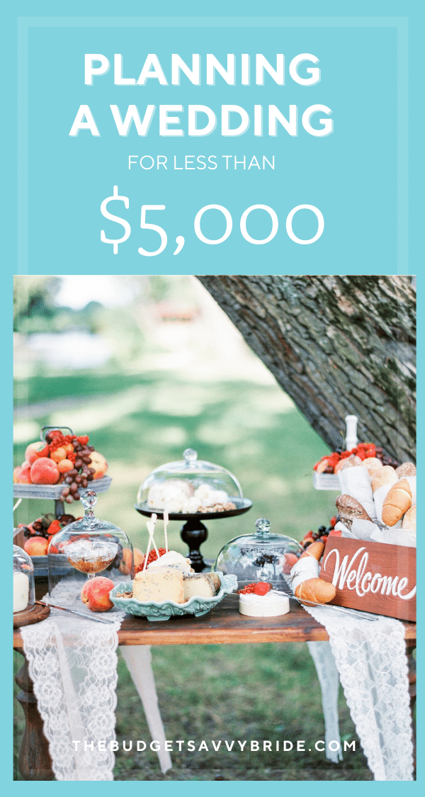 Working with an extra tight budget? Don't miss these tips for planning a wedding for less than $5,000!