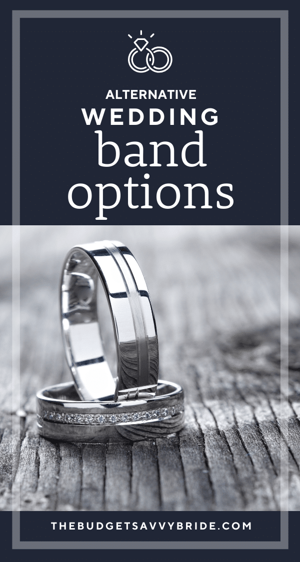 Looking for an alternative to traditional gold or platinum wedding bands? Check out these alternative wedding band options for your wedding rings!