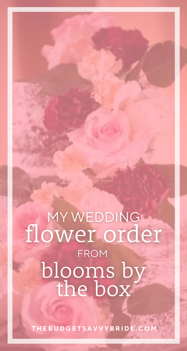 Considering ordering wholesale flowers online to arrange your own wedding florals? Check out this real bride's review of popular online flower wholesaler Blooms by the Box!