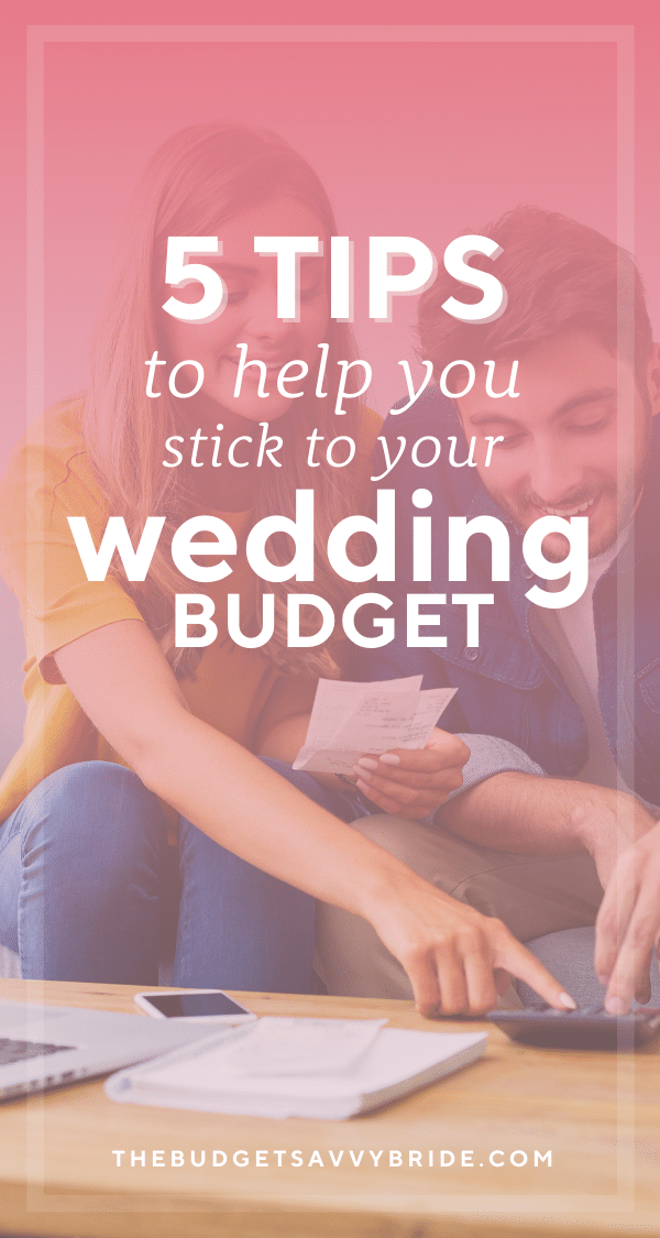 So you've set your wedding budget, but how do you actually stick to it? Read these tips for keeping up with spending and staying on track!