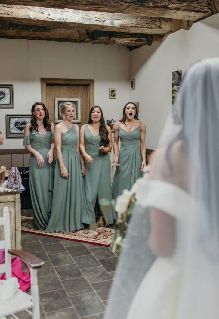 bridesmaid reactions