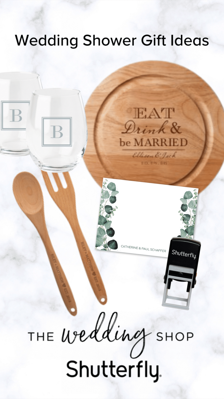 Shutterfly wedding shower gifts