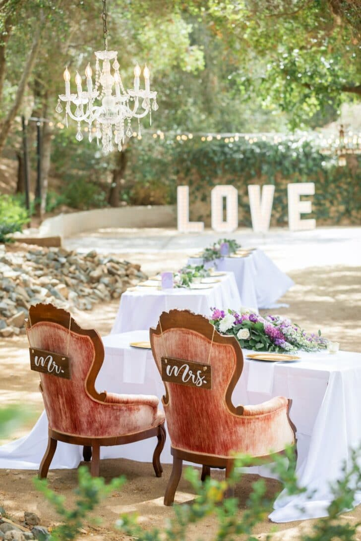 vintage outdoor wedding -willow creek