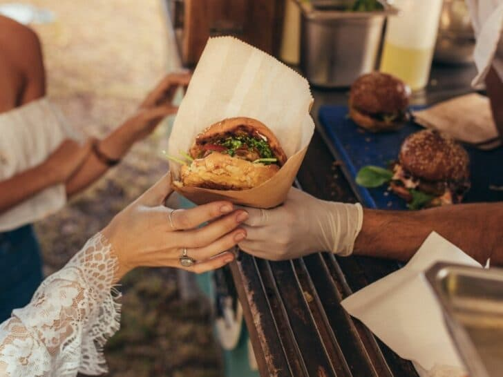 food truck catering for a wedding - affordable catering ideas