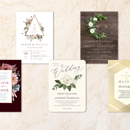 Fall Wedding Invitations from Shutterfly