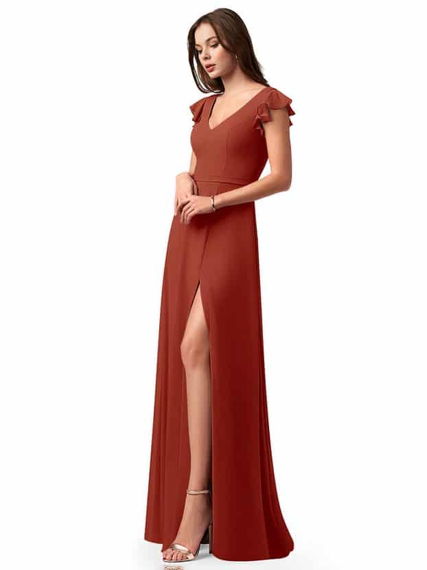 vestido de dama de honor de otoño azazie