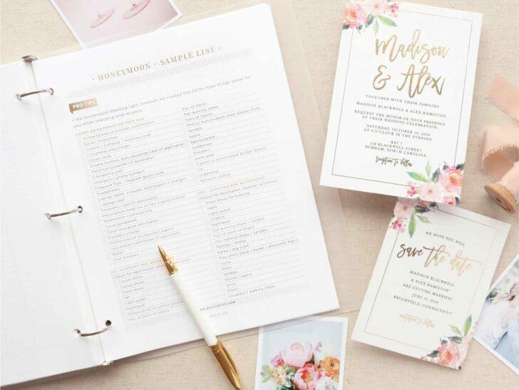 Invitación de boda básica: invitaciones de boda económicas
