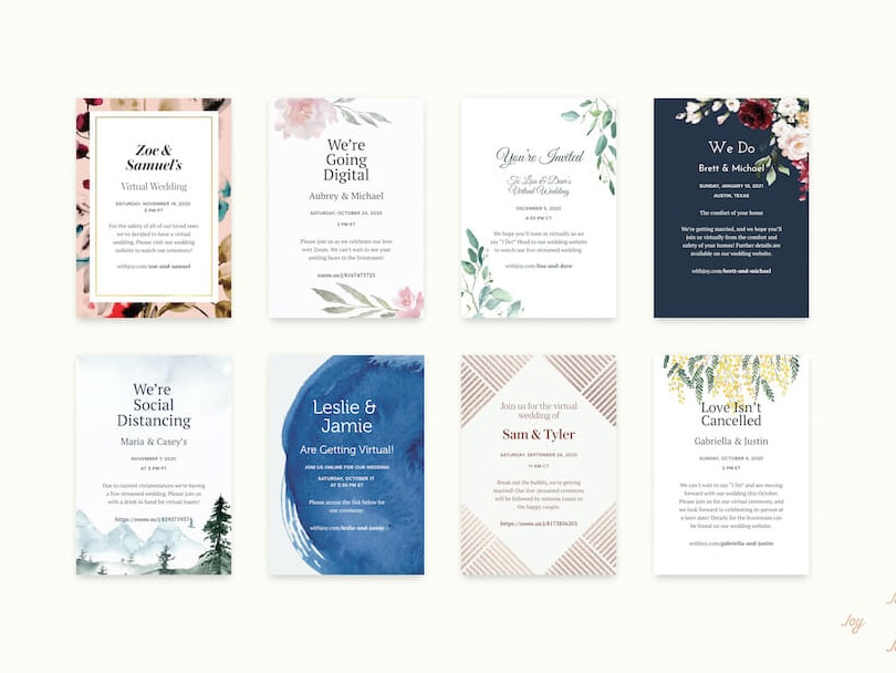 The Top Sites for Digital Wedding Invitations: With Joy