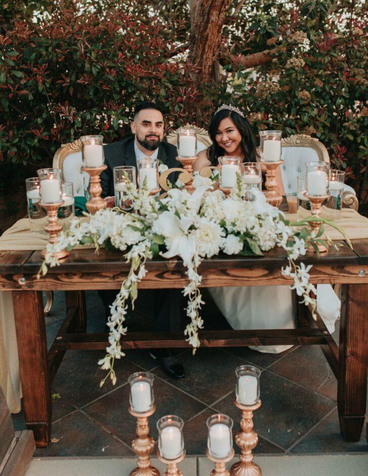 head table bride and groom