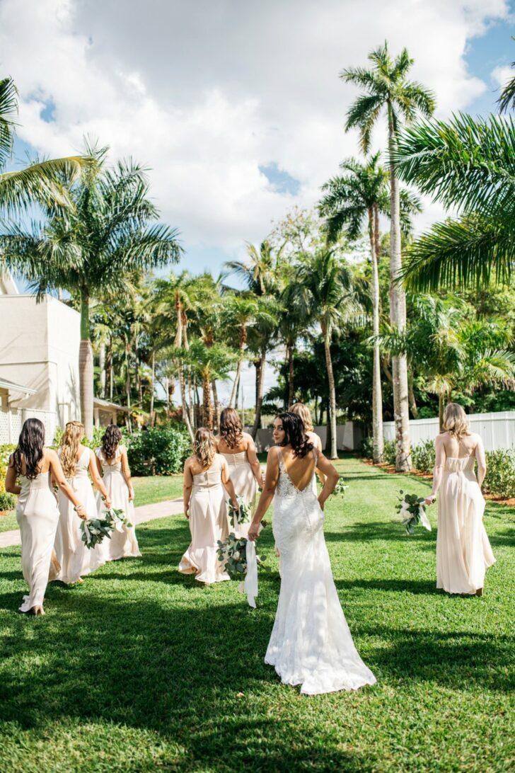 fun bride and bridesmaids photo